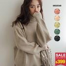 1203 舒適保暖高領針織毛衣!簡約素色好搭配,喜歡無印感的女孩們推薦入手唷!