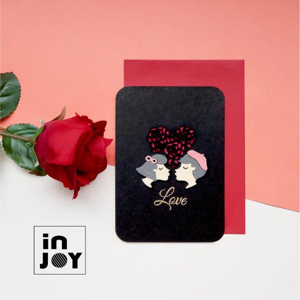 結婚周年 情人節 求婚 紀念 立體 手創祝福萬用卡片  INJOY Mall【A520001】