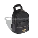 adidas 後背包 Mini Backpack 黑 金 男女款 迷你背包 皮革質感 【ACS】 FL9629