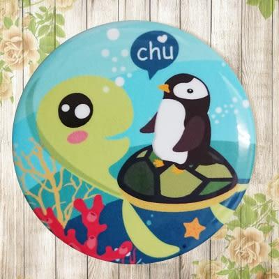 【冰箱貼】綠龜與企鵝  #  白板貼 冰箱貼 OA屏風貼 置物櫃貼 5.8cm x 5.8cm