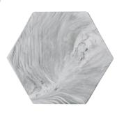 北歐風 大理石紋陶瓷餐盤墊-8吋六角形