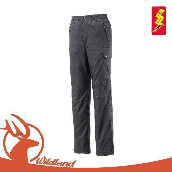 【Wildland 荒野 男 鬆緊帶輕量保暖褲《鐵灰》】0A12336/抗靜電/抗菌抑臭/刷毛