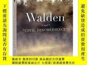 二手書博民逛書店英文原版小說罕見瓦爾登湖 Walden and Civil Di
