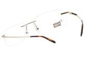 MONTBLANC 光學眼鏡 MB670 028 (金) 經典紳士品味款 無框眼鏡 # 金橘眼鏡