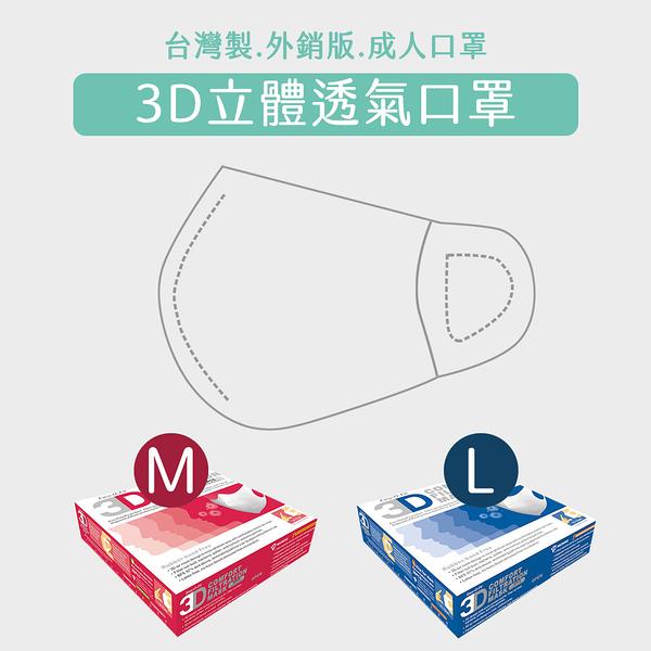 【預購】美國 Easy-O-Fit 3D透氣3層拋棄式口罩(M) 30片/盒【瑞昌藥局】拋棄式口罩(M) 外銷美日款
