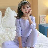長袖月子服衛生衣衛生褲哺乳衣春秋季棉質寬鬆大碼孕婦產婦喂奶衣 3C優購