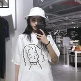 裝韓版上衣嘻哈中長款寬鬆短袖T恤