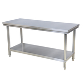 工作台 加厚不銹鋼工作台雙層家用廚房操作桌子面專用案板打荷台打包  mks阿薩布魯