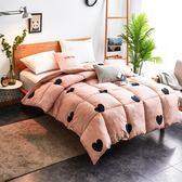 可水洗-【粉紅龐克】雪紡棉羽絲絨被+雙人加大床包組(獨家設計款)
