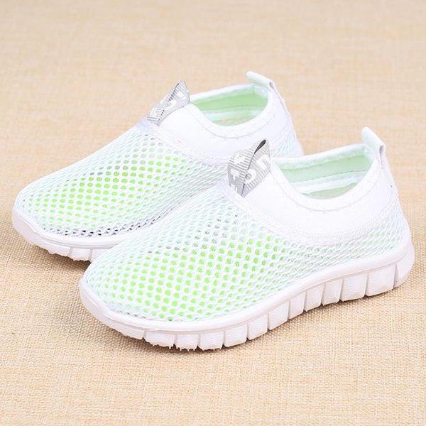 兒童網鞋單網童鞋男女運動鞋涼鞋透氣