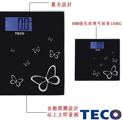 免運。TECO 東元藍光時尚體重計 XYFWT486