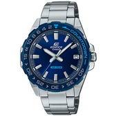 【台南 時代鐘錶 CASIO】卡西歐 EDIFICE 台灣公司貨 EFV-120DB-2A 倒數計時錶圈賽車風格手錶