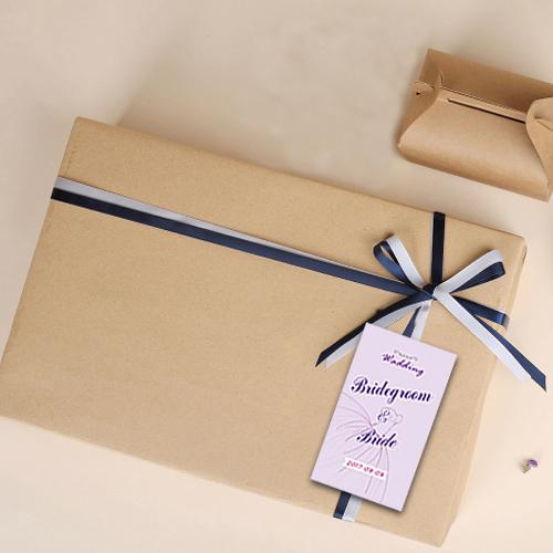 幸福婚禮小物❤方形禮服款 貼紙 500張入❤貼紙/客製化