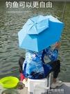 女摩傘帽頭戴傘防曬雨傘釣魚傘遮陽采茶傘頭戴式折疊遮雨帽釣魚帽【全館免運】
