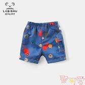 男童短褲夏季寶寶休閒褲子外穿薄款【聚可愛】