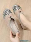 古風鞋 老北京布鞋女鞋平底繡花鞋民族風媽媽鞋中國風軟底防滑古風漢服鞋 快速出貨