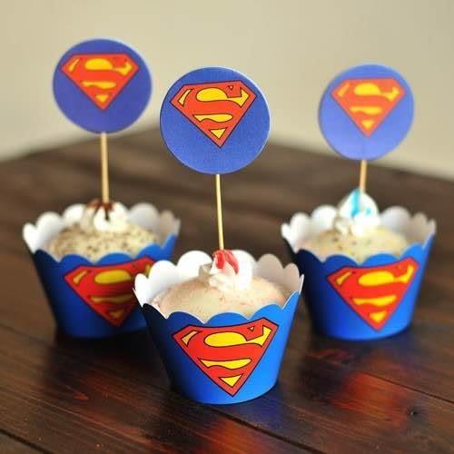 【發現。好貨】烘焙包裝紙杯蛋糕 蛋糕裝飾 插牌圍邊+插牌裝飾 派對用品 【超人S】