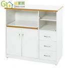 【綠家居】阿爾斯 環保3.3尺塑鋼二門三抽餐櫃/收納櫃