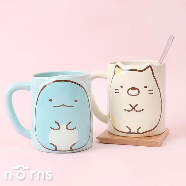 角落生物2D立體馬克杯 - Norns 正版授權 恐龍 貓咪 餐具 杯子