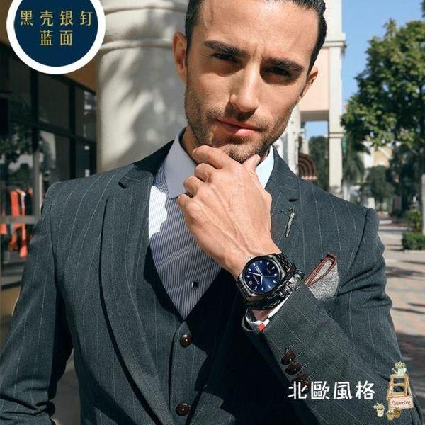 流行男錶超薄手錶男學生正韓簡約潮流個性休閒鋼帶防水夜光機械男錶石英錶