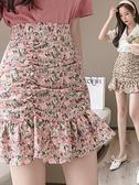 魚尾裙 夏季碎花雪紡魚尾半身裙子女裝2021年新款春高腰a字短裙包臀薄款 韓國時尚 618