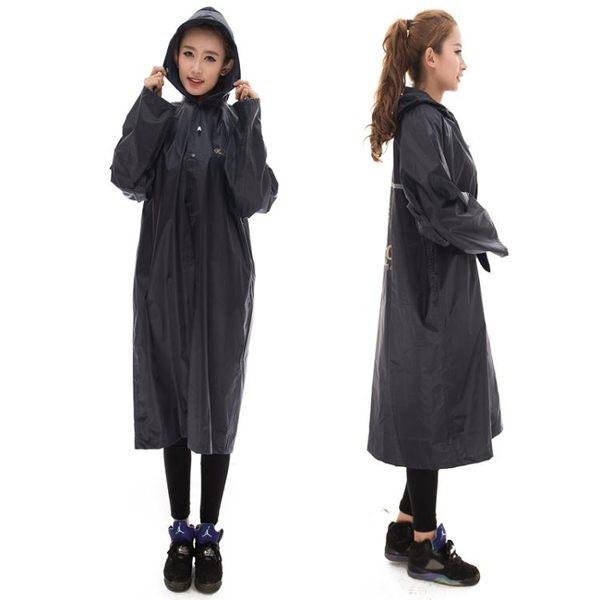 成人戶外雨衣徒步騎行長款加厚防雨水風衣 ·花漾美衣