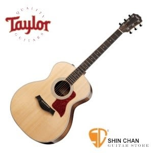 Taylor 214e DLX 單板 木吉他 / 電木吉他 附硬盒 可插電民謠吉他 墨廠 【214-e DLX/木吉他/GA桶身】