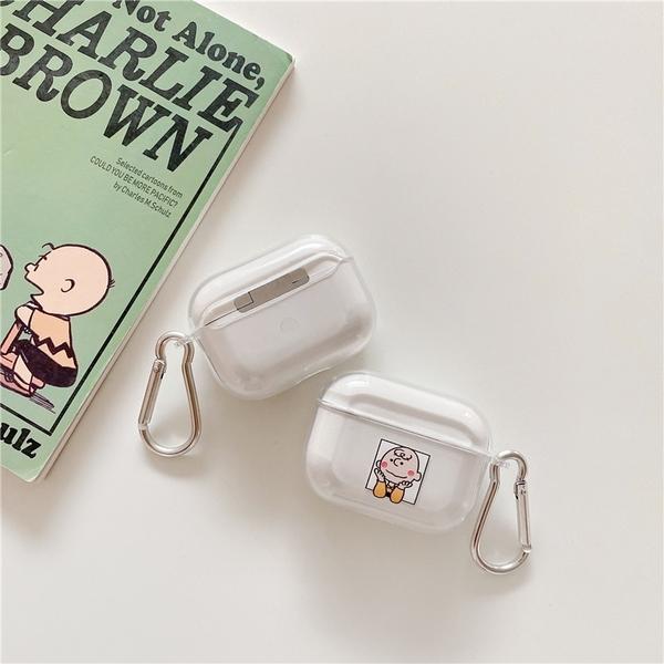 [ Airpods Pro 1/2 ] 透明史努比查理布朗 蘋果無線耳機保護套 iPhone耳機保護套