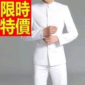 成套西裝 包含西裝外套+褲子 男西服-上班族制服休閒必備簡約復古4色54o20【巴黎精品】