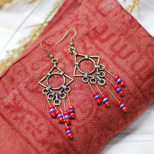 尼泊爾藏飾流蘇耳飾