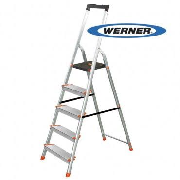 美國Werner穩耐安全鋁梯-L235R-2 鋁合金大平台5階家用梯/A字梯