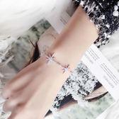 手鍊手鐲 微鑲鋯石星星手鐲復古簡約首飾配飾品生日禮物 巴黎春天