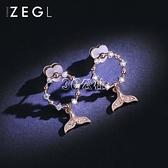 耳環 ZENGLIU魚尾耳釘耳環女氣質新款潮耳墜銀針耳飾耳夾無耳洞