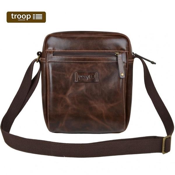 【TROOP】頂級造皮FAUX LEATHER單肩包/TLL009DB(深咖啡色)