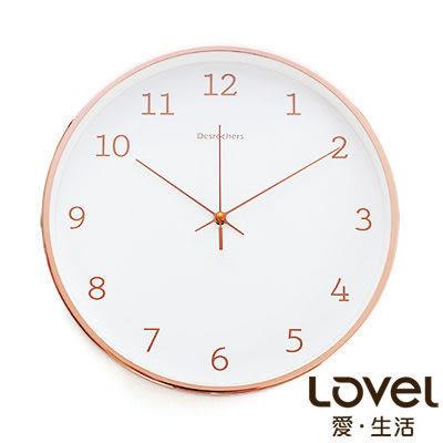 里和Riho LOVEL 30cm新嫁娘白紗靜音壁掛時鐘(S721WH-RG) 台灣製造,高品質機芯