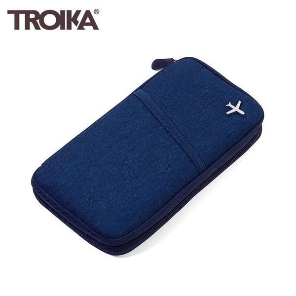 耀您館★德國TROIKA防盜護照現金皮包TRV20/DB(深藍)防RFID錢包防感應卡夾護照包旅遊包隨身包証件包