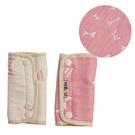 HiBOU 喜福 六層紗背帶口水巾/背巾/揹巾 蝴蝶粉(一組2入)