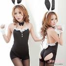 兔女郎 黑色高叉舉牌小兔子角色扮演服飾-...