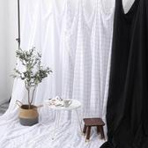 白色格子背景布ins掛布網紅直播背景墻拍攝拍照道具攝影灰黑白布 熱賣單品
