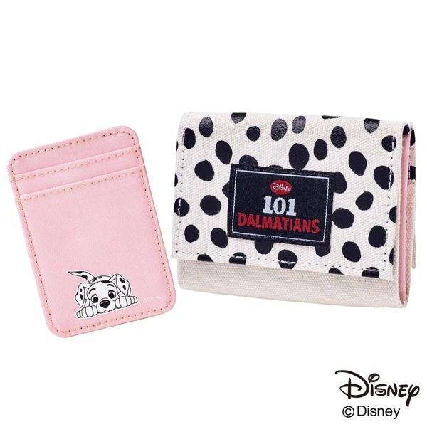 《花花創意会社》外流。日雜迪士尼101忠狗限定短夾粉卡包兩件組【H7128】
