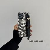 韓國ins氣質手腕帶斑馬紋蘋果手機殼 iphone12/11Promax/Xr/78Plus/Xsmax
