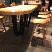 實木輕奢酒吧桌椅休閒高腳吧台桌椅北歐創意桌椅個性高腳桌ATF 格蘭小舖