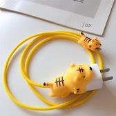 咬線器手機數據線保護套蘋果iPhone充電器耳機防折斷裂7/8P/XSMAX 向日葵