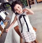 女童禮服2019夏裝新款連身裙甜美洋氣小碎花公主裙兒童洋裝HT748