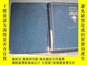 二手書博民逛書店LETTERS罕見FROM ABROADY9740 出版1902