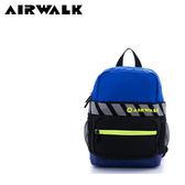 【橘子包包館】AIRWALK 快樂斑馬線 糖果撞色輕量尼龍兒童後背包 A635324482 藍黑