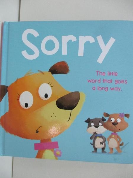 【書寶二手書T1/兒童文學_DPA】Sorry_IglooBooks