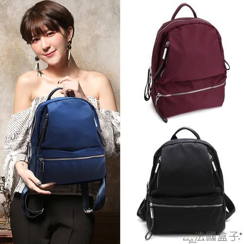 後背包-法國盒子.美式樂活輕量多口袋後背包(共三色)L-802