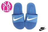 NIKE拖鞋  KAWA SLIDE TL 超輕量 防水 運動拖鞋 零碼出清 M7185#藍色 ◆OSOME奧森鞋業