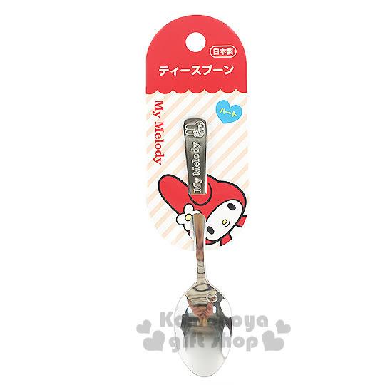 〔小禮堂〕美樂蒂 日製不鏽鋼湯匙《小.銀.大臉》可愛又實用 4991203-16940